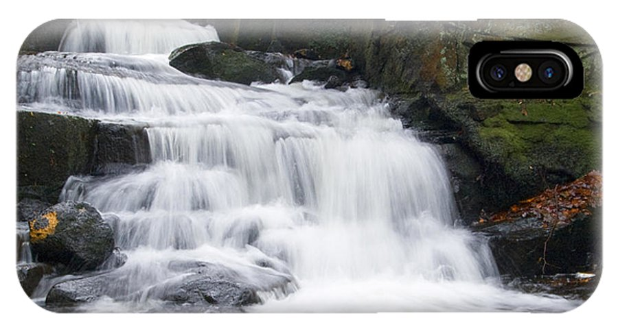 Waterfall IPhone X Case featuring the photograph Lumsdale Waterfall by Steev Stamford