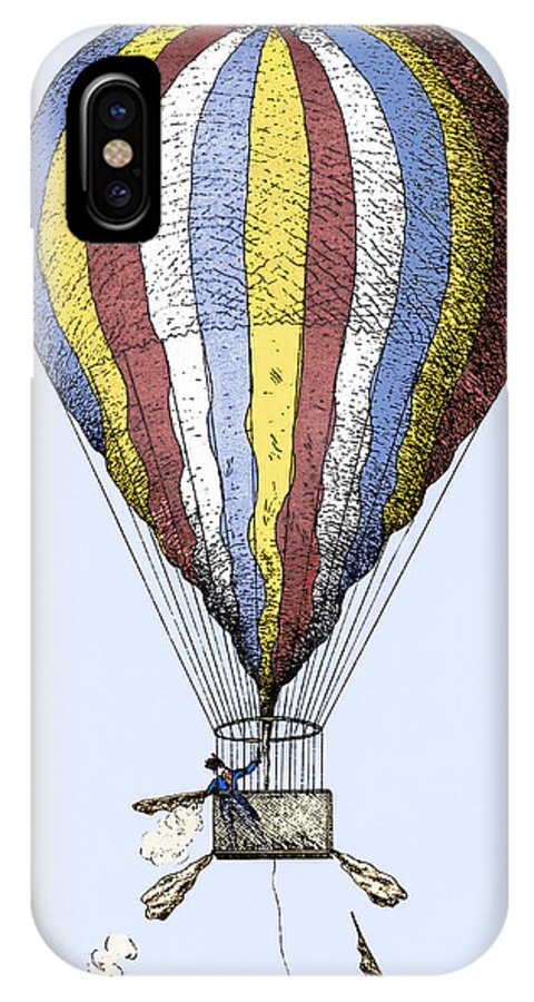 Vincenzo Lunardi IPhone X Case featuring the photograph Lunardi's Balloon, 1784 by Sheila Terry