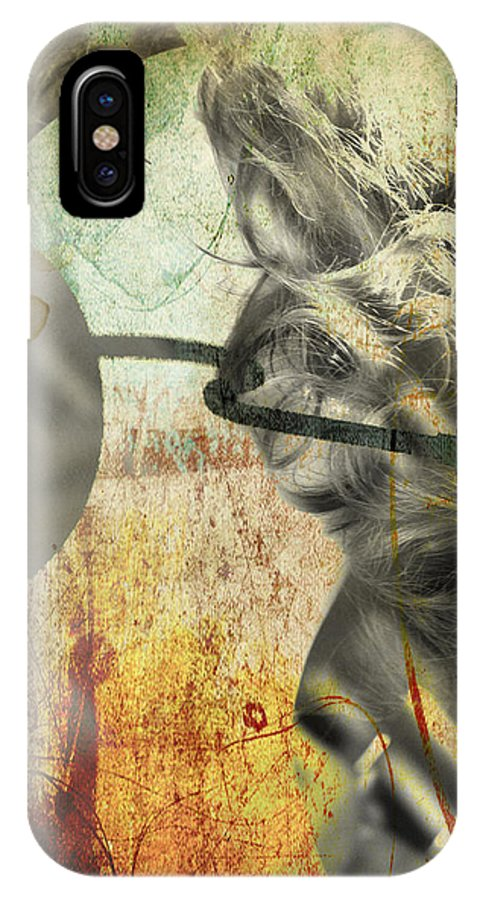 Women IPhone X Case featuring the photograph Lying Right by The Artist Project