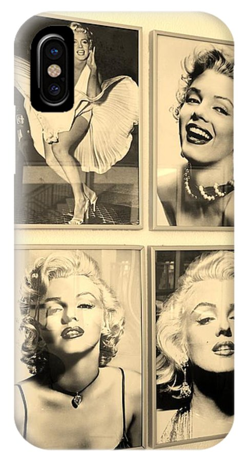 Marilyn Monroe IPhone X Case featuring the photograph M M by Rob Hans