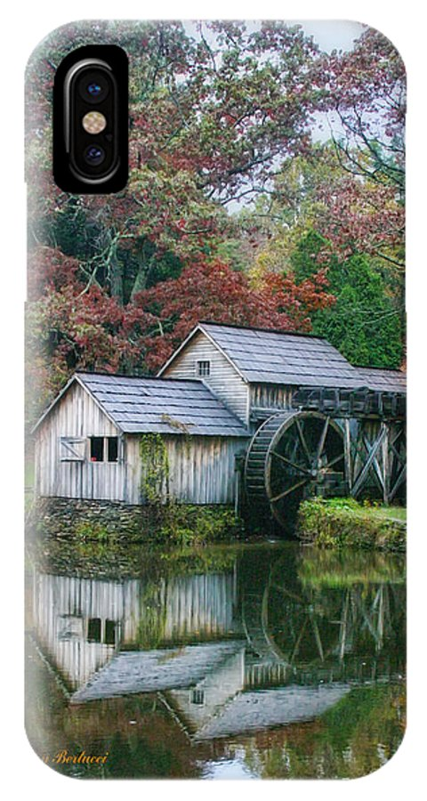 Mill IPhone X Case featuring the photograph Mabry Mill by Joan Bertucci