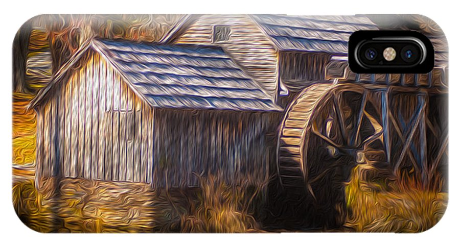 Agricultural Buildings IPhone X / XS Case featuring the painting Mabry Mill by Lisa and Norman Hall