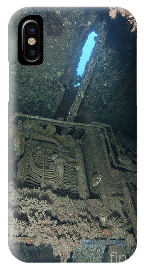 Wide-angle IPhone X Case featuring the photograph Machinery Inside Of The Seven Skies by Mathieu Meur