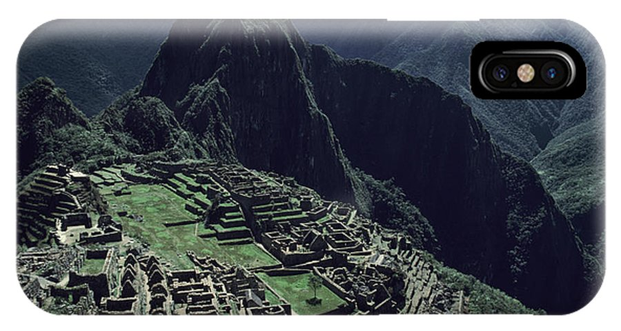 Machu Picchu IPhone X Case featuring the photograph Machu Picchu, A Pre-columian Inca Ruin by Ira Block