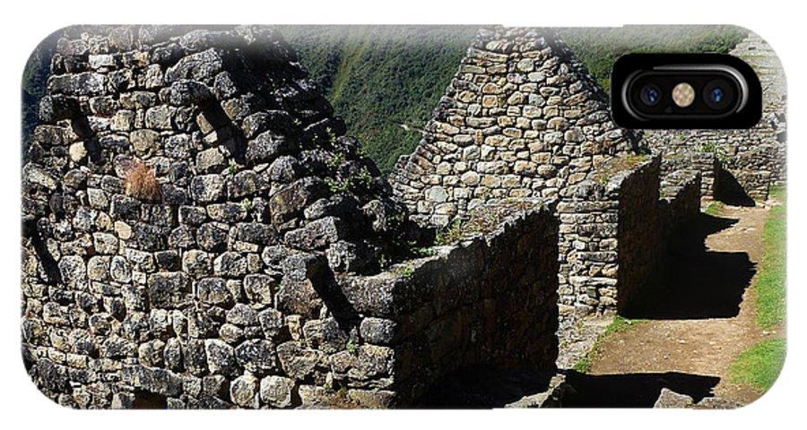 Peru IPhone X Case featuring the photograph Machu Picchu Peru 8 by Xueling Zou