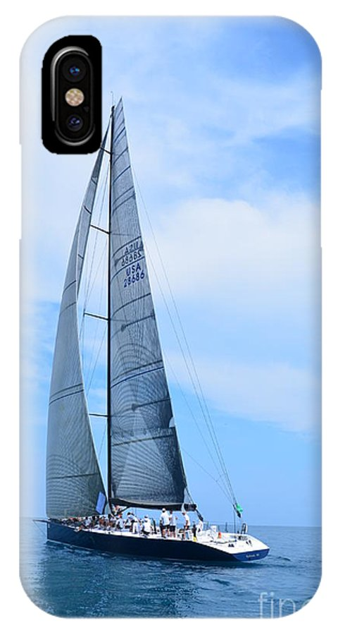 Sailboat IPhone X / XS Case featuring the photograph Mackinac Race by Randy J Heath