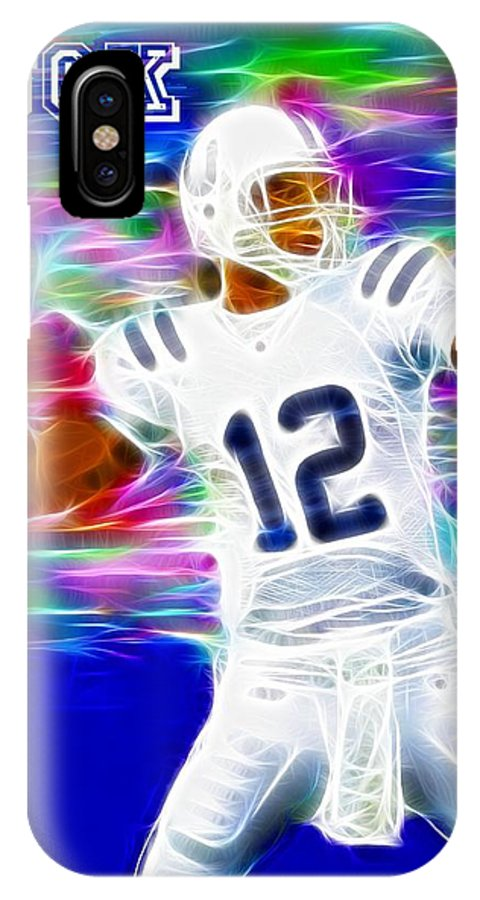 Andrew Luck IPhone X Case featuring the digital art Magical Andrew Luck by Paul Van Scott