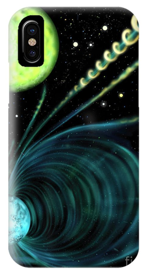 Astronomy IPhone X Case featuring the photograph Magnetic White Dwarf Star Euvej0317-855 by Russell Kightley
