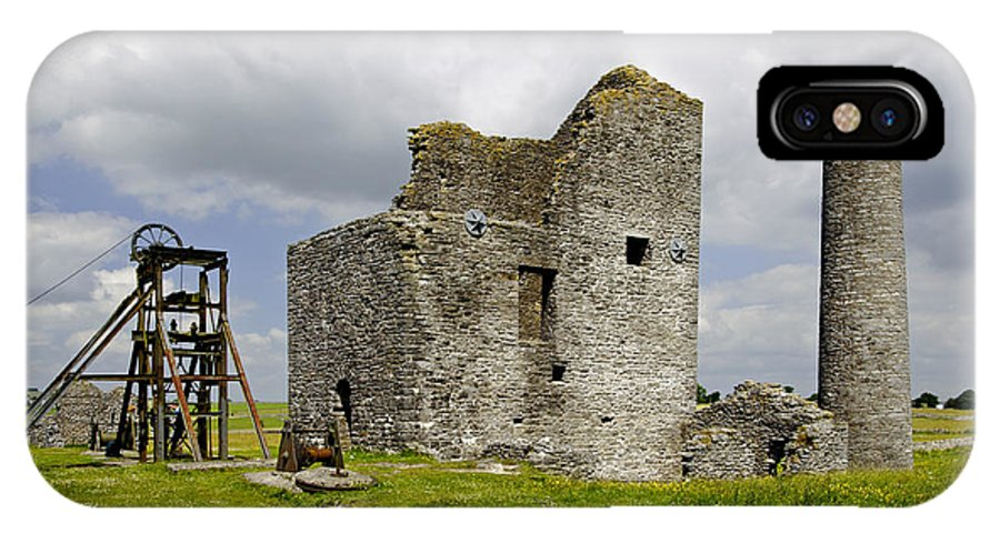 Architecture IPhone X Case featuring the photograph Magpie Mine - Sheldon In Derbyshire by Rod Johnson