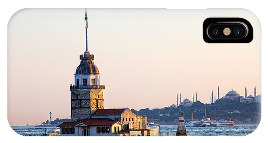 Bosphorus IPhone X Case featuring the photograph Maiden Tower In Istanbul by Artur Bogacki