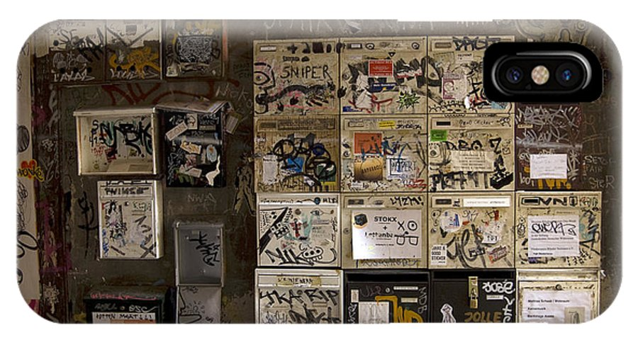 Mailboxes IPhone X / XS Case featuring the Mailboxes With Graffiti by RicardMN Photography