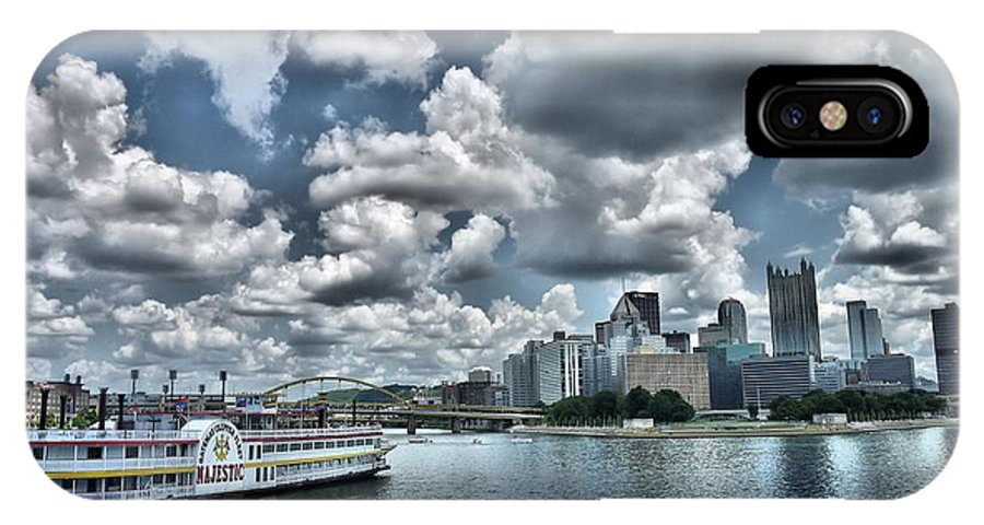 Ferry IPhone X Case featuring the photograph Majestic by Arthur Herold Jr