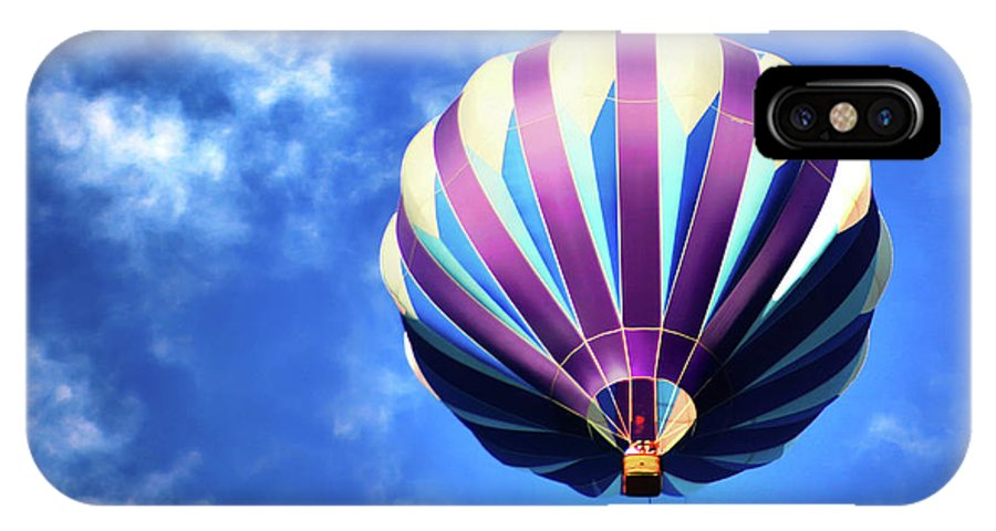 Hot Air Balloon IPhone X Case featuring the digital art Majestic Blue by Gary Baird