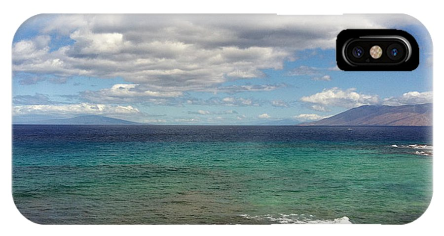 Pacific IPhone X Case featuring the photograph Makena Sea And Sky by David Wallace Crotty