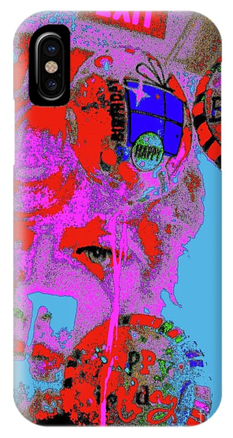 Digital Art IPhone X Case featuring the digital art Makeup 8 by Nina Kaye