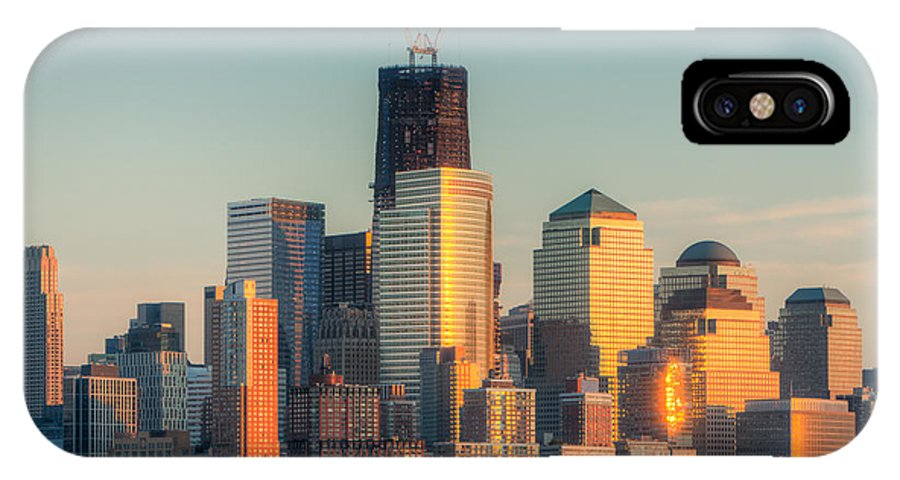 Clarence Holmes IPhone X / XS Case featuring the photograph Manhattan Sunset Reflections by Clarence Holmes
