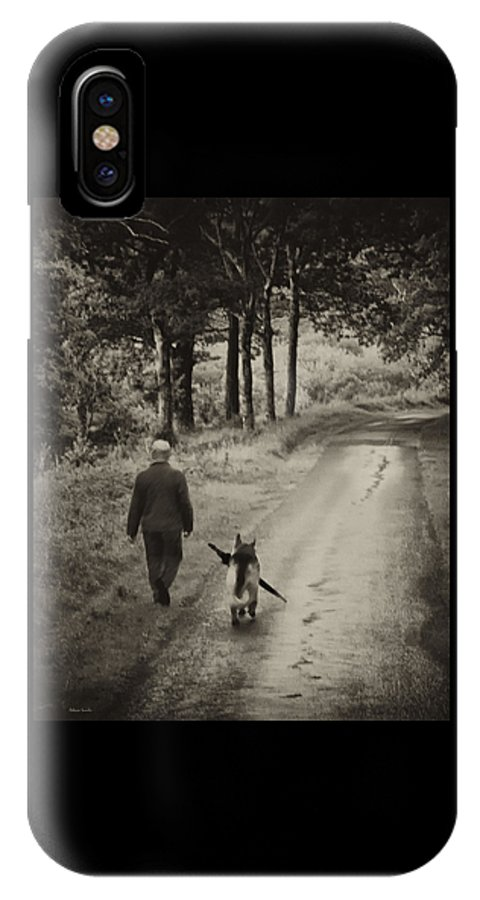 Man's Best Friend IPhone X Case featuring the photograph Man's Best Friend by Rebecca Samler