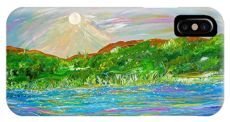 Landscape IPhone X Case featuring the painting Maria De Vera Cruz by Sara Credito
