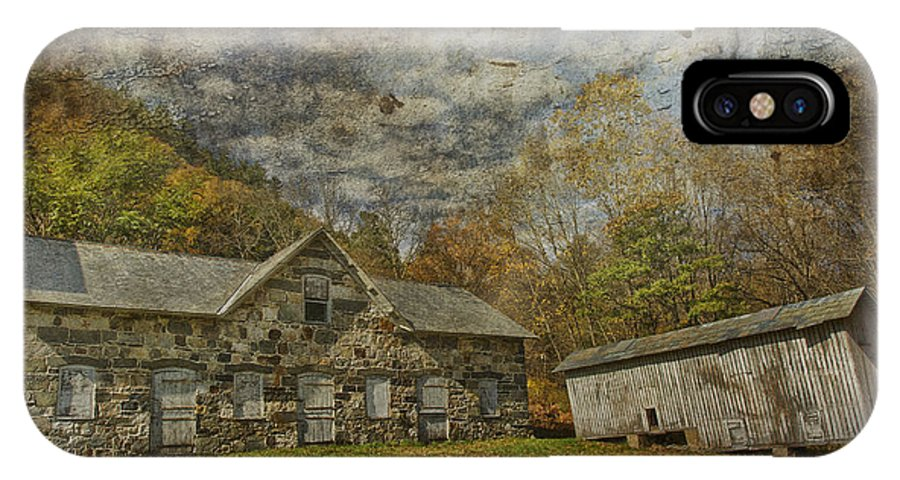 Old IPhone X Case featuring the photograph Marie Zimmermann Farm by David DesRochers