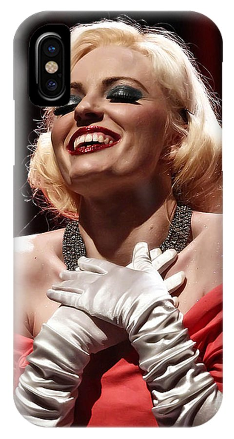 Woman IPhone X Case featuring the photograph Marilyn by Elizabeth Hart