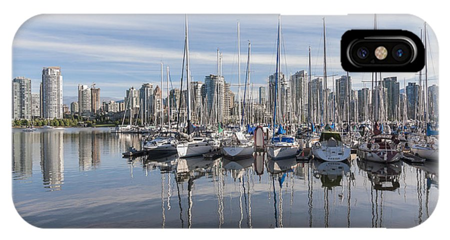 Marina IPhone X Case featuring the photograph Marina At False Creek by Andrew Campbell