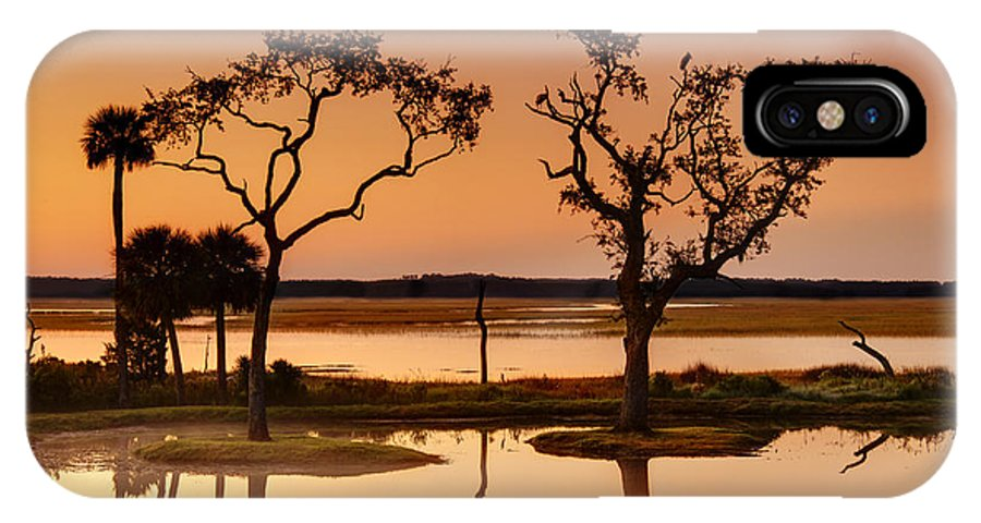 Beaufort County IPhone X / XS Case featuring the photograph Marsh Morning by Phill Doherty