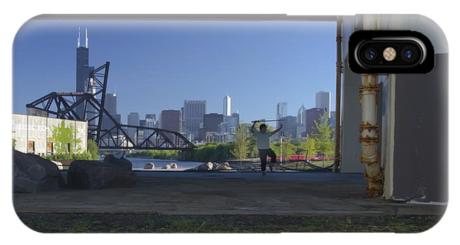Tai Chi IPhone X Case featuring the photograph Martial Arts In The City by Sven Brogren
