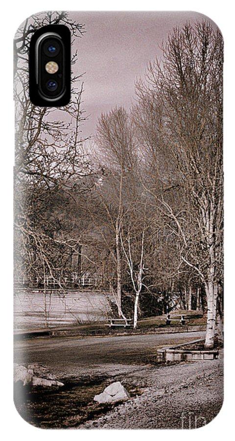 Matsqui IPhone X Case featuring the photograph Matsqui River Park by Dawn Harris
