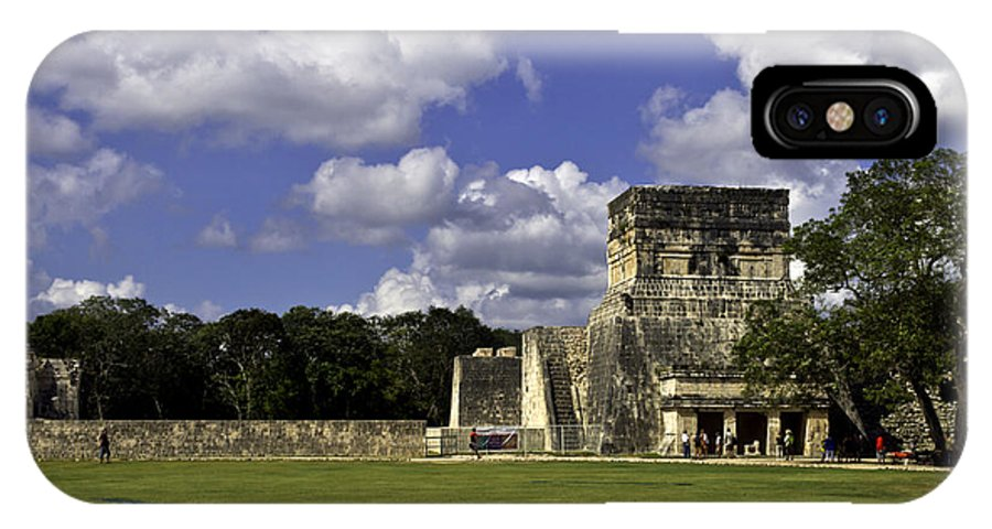 Chichen Itza IPhone X Case featuring the photograph Mayan Ball Court by Ken Frischkorn