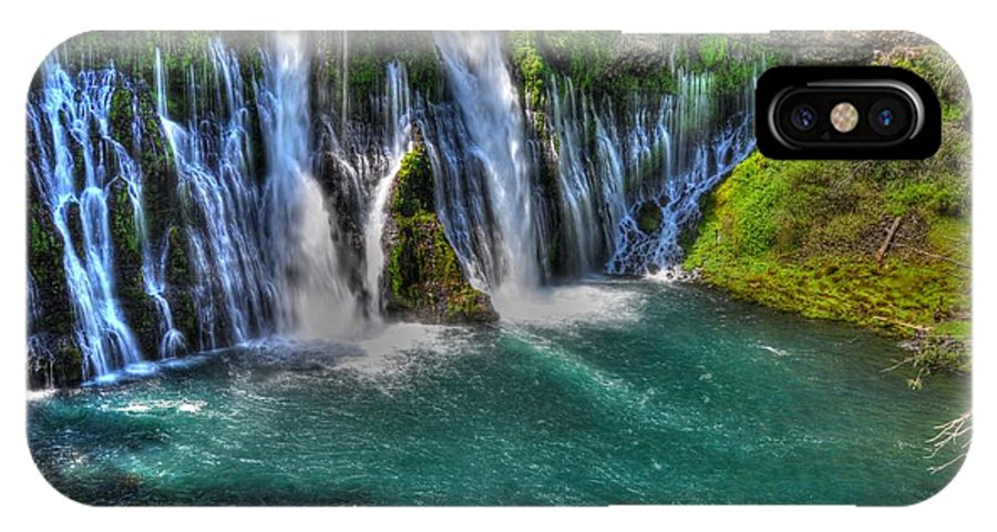 Mcarthur Burney Falls IPhone X Case featuring the photograph Mcarthur-burney Falls - Pool by Bruce Friedman