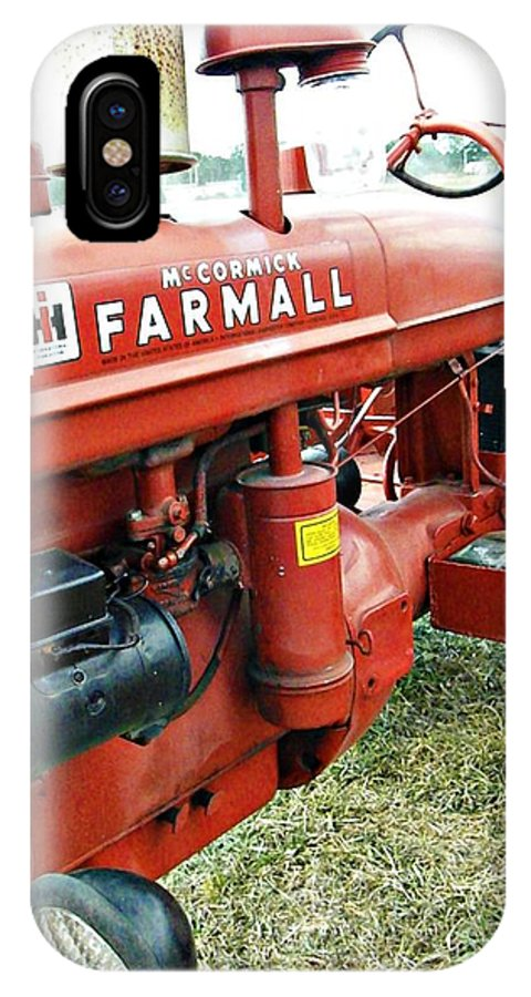 Tractor IPhone X Case featuring the photograph Mccormick Farmall by Tisha Clinkenbeard