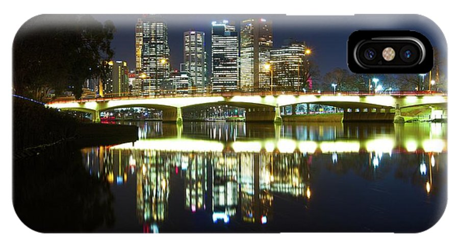 Melbourne IPhone X Case featuring the photograph Melbourne Lights by Chris Anthony