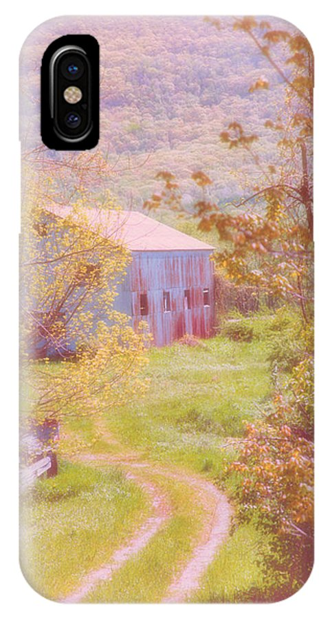 Landscape IPhone X / XS Case featuring the photograph Memories Of The Farm by Karol Livote