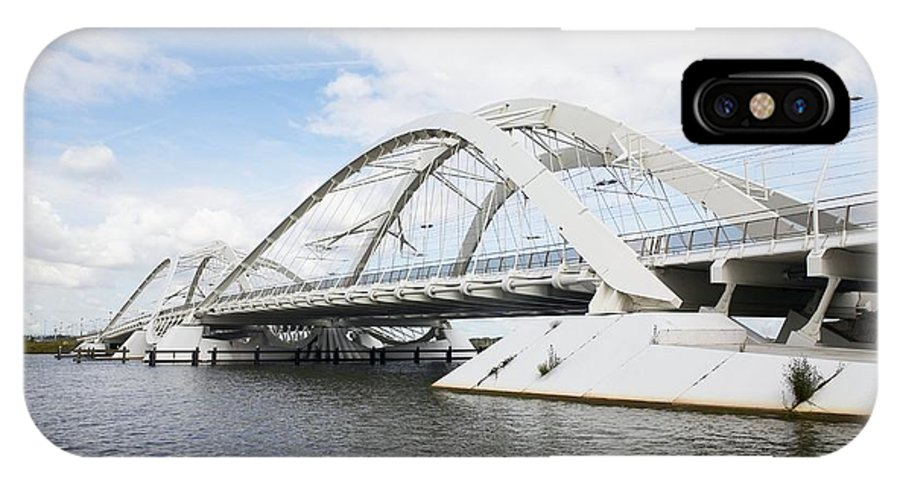 Dolly Parton IPhone X / XS Case featuring the photograph Memphis Arkansas Bridge, Netherlands by Colin Cuthbert