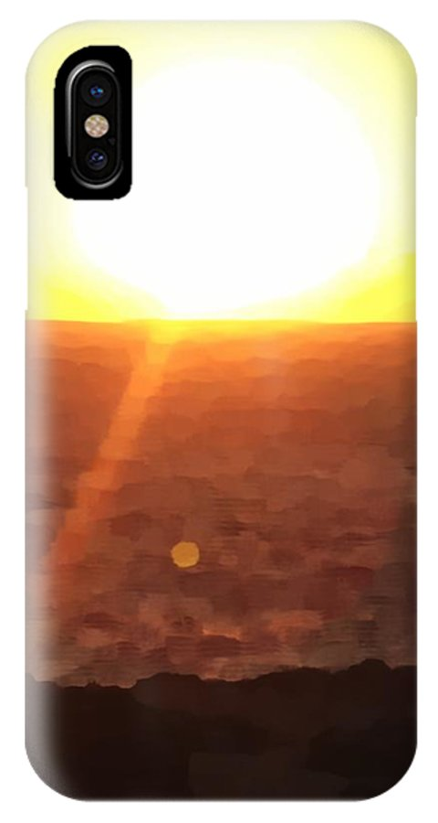 Photographs IPhone X Case featuring the photograph Menorca Sunrise by John Colley