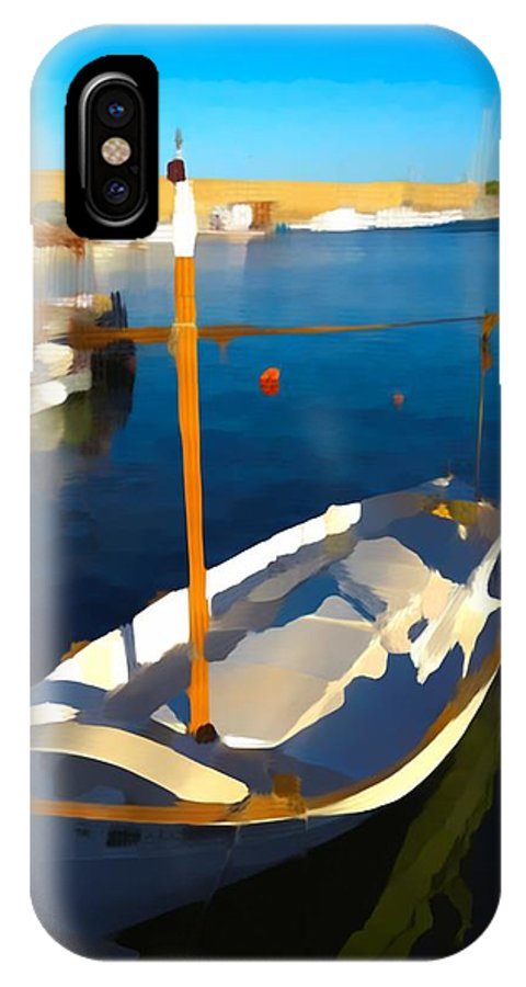 Photographs IPhone X Case featuring the photograph Menorcan Fishing Boat 2 by John Colley