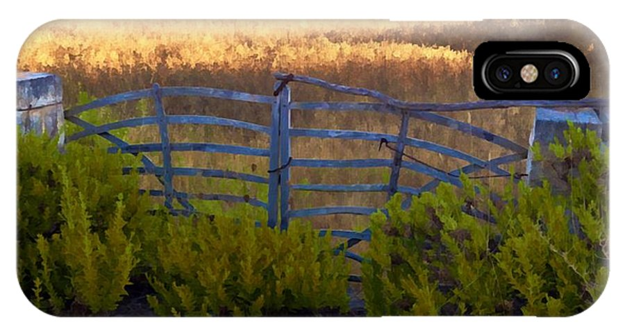 Photographs IPhone X Case featuring the photograph Menorcan Five Bar Gate by John Colley