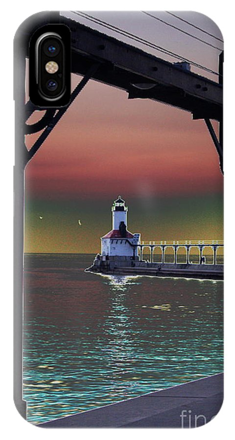 Lighthouse IPhone X Case featuring the photograph Michigan City Lighthouse 2 by Brook Steed
