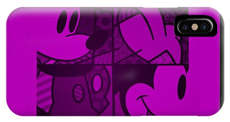 Mickey Mouse IPhone X / XS Case featuring the photograph Mickey In Purple by Rob Hans