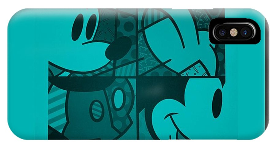 Mickey Mouse IPhone X / XS Case featuring the photograph Mickey In Turquois by Rob Hans