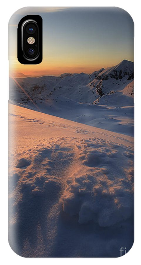 Norway IPhone X Case featuring the photograph Midnight Sun Above Lilletinden by Arild Heitmann