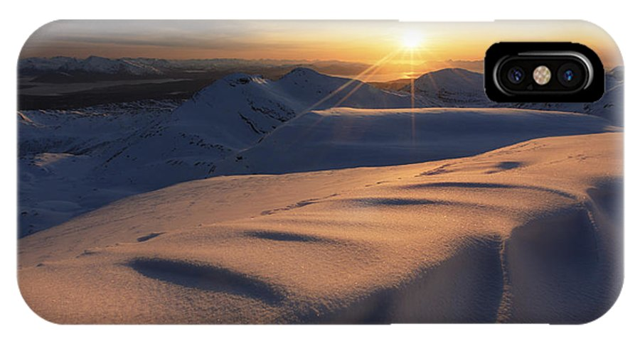 Norway IPhone X Case featuring the photograph Midnight Sun Over Lilletinden Mountain by Arild Heitmann