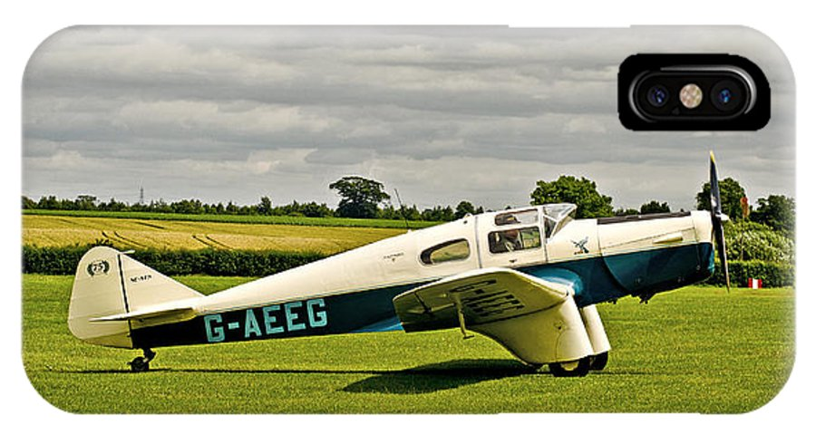 Miles M3 Falcon Aeroplane IPhone X Case featuring the photograph Miles M.3 Falcon Circa 1934 by Chris Thaxter