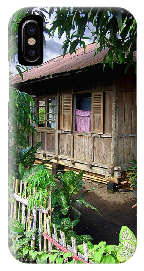 Architecture IPhone X Case featuring the photograph Minahasa Traditional Home 1 by Mark Sellers
