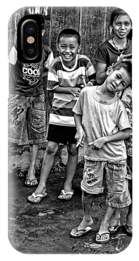 Asia IPhone X Case featuring the photograph Minehasa Expressions Bw by Mark Sellers