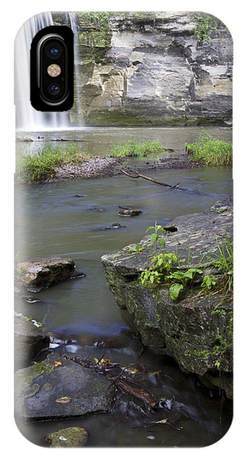 Minneopa IPhone X Case featuring the photograph Minneopa Falls 36 by John Brueske