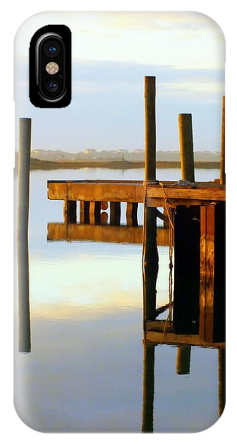 Nautical IPhone X Case featuring the photograph Mirror Image by Karen Wiles