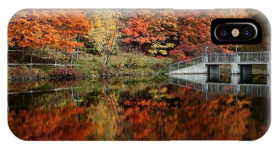 lake IPhone X Case featuring the photograph Mirror Pond by David Hubbs