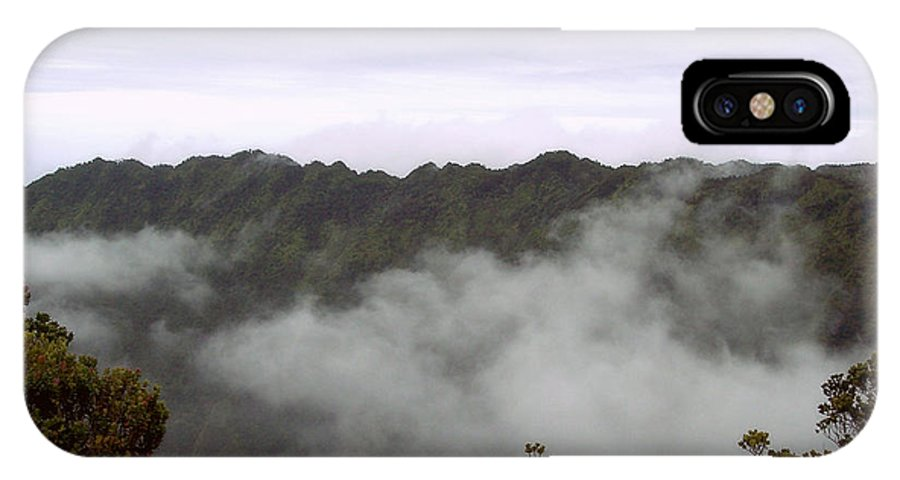 Kalalau Valley IPhone X Case featuring the photograph Mists From The Kalalau Valley by Paulette B Wright