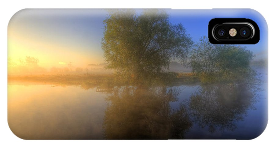Hdr IPhone X Case featuring the photograph Misty Dawn 1.0 by Yhun Suarez